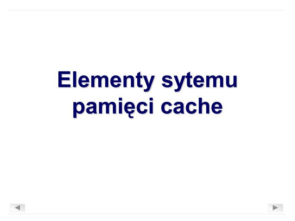 Elementy sytemu pamięci cache