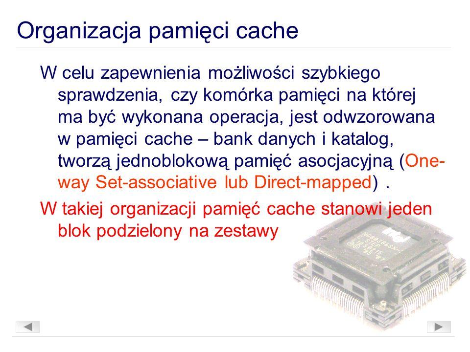 Organizacja pamięci cache