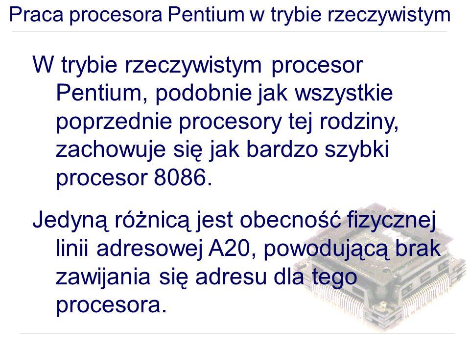 Praca procesora Pentium w trybie rzeczywistym