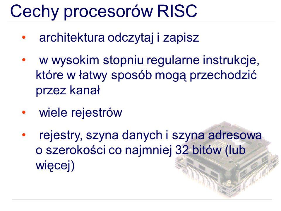 Cechy procesorów RISC architektura odczytaj i zapisz