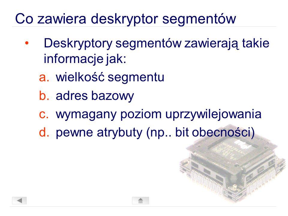 Co zawiera deskryptor segmentów