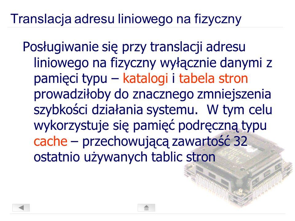 Translacja adresu liniowego na fizyczny
