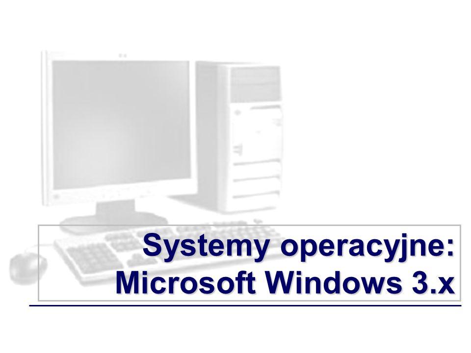 Systemy operacyjne: Microsoft Windows 3.x