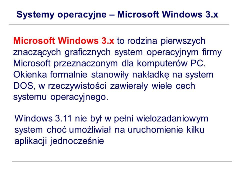 Systemy operacyjne – Microsoft Windows 3.x