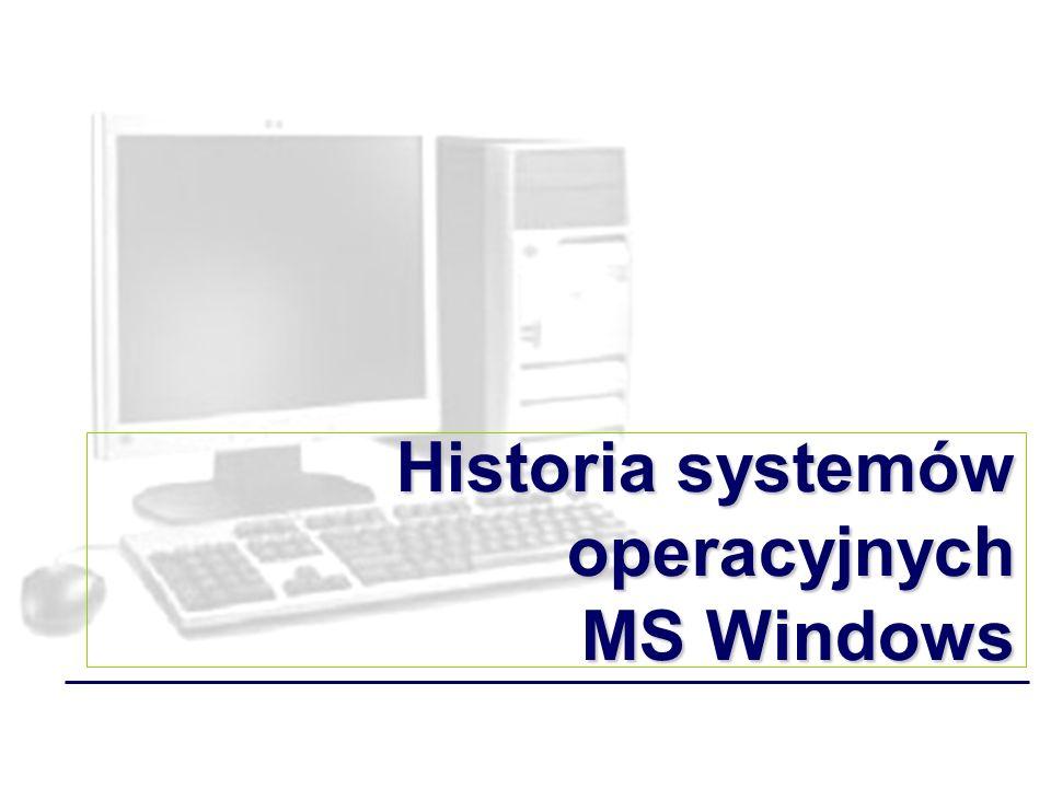 Historia systemów operacyjnych MS Windows