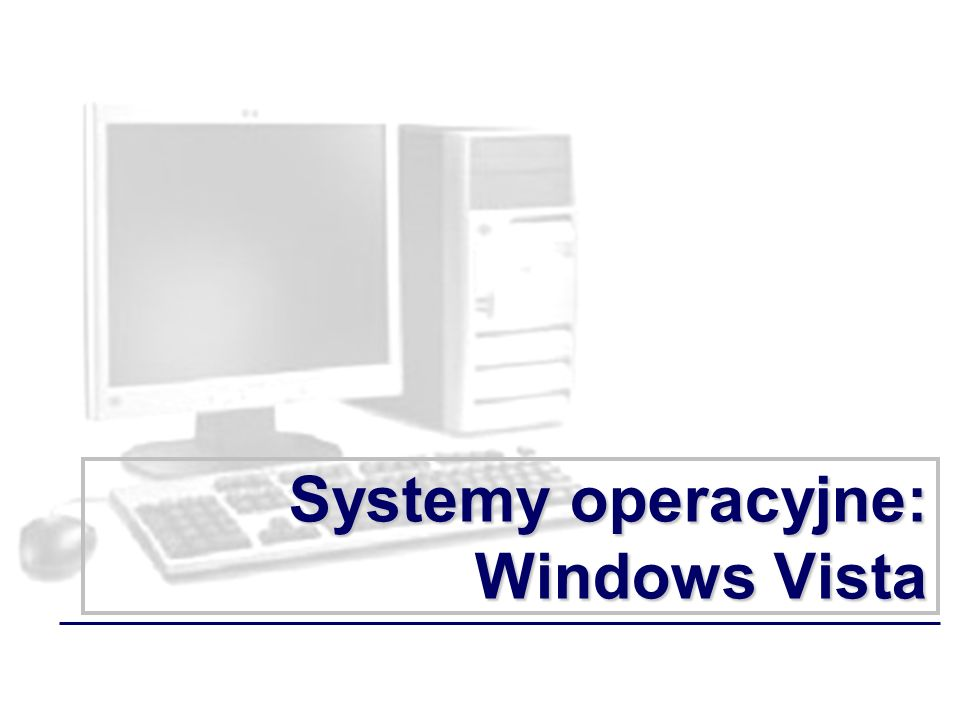 Systemy operacyjne: Windows Vista