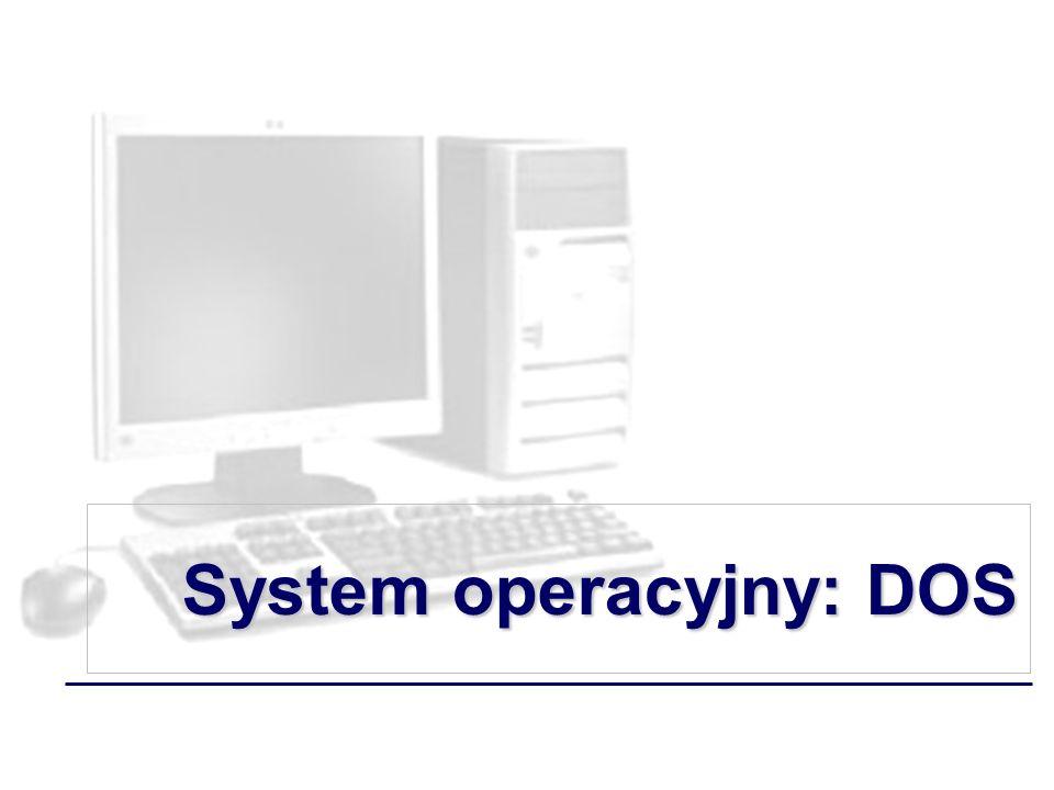System operacyjny: DOS