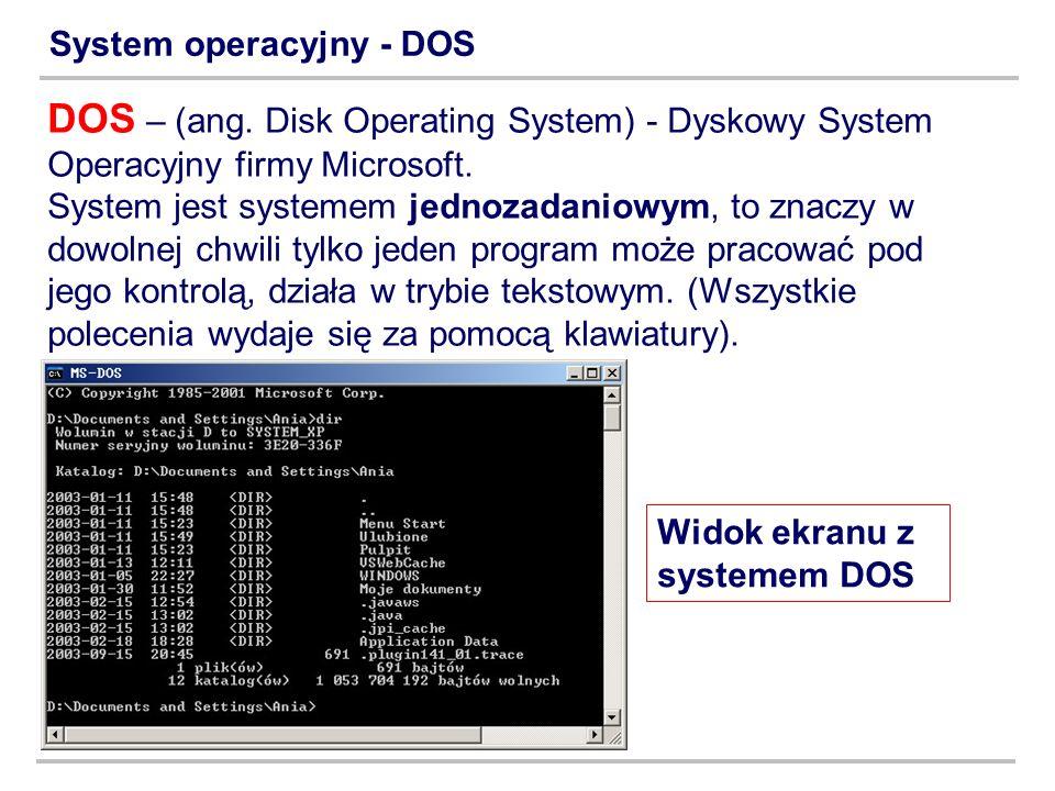 System operacyjny - DOS