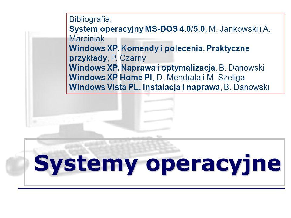 Systemy operacyjne Bibliografia: