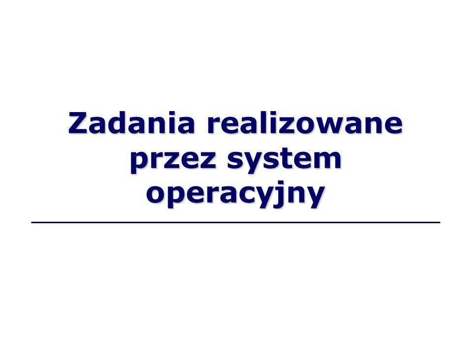 Zadania realizowane przez system operacyjny