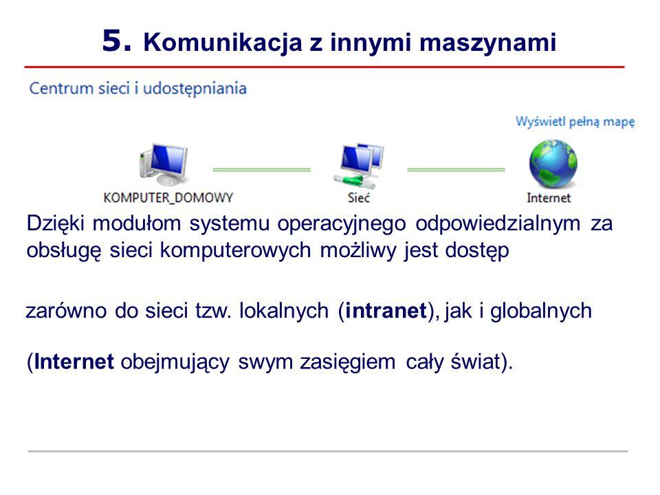 Komunikacja z innymi maszynami