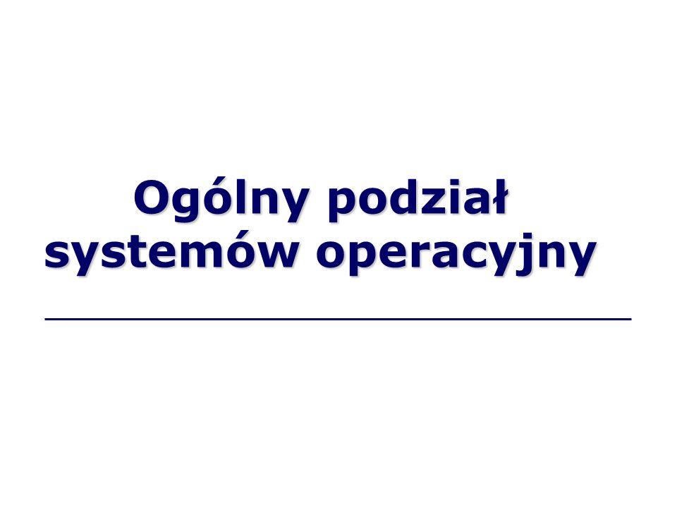 Ogólny podział systemów operacyjny