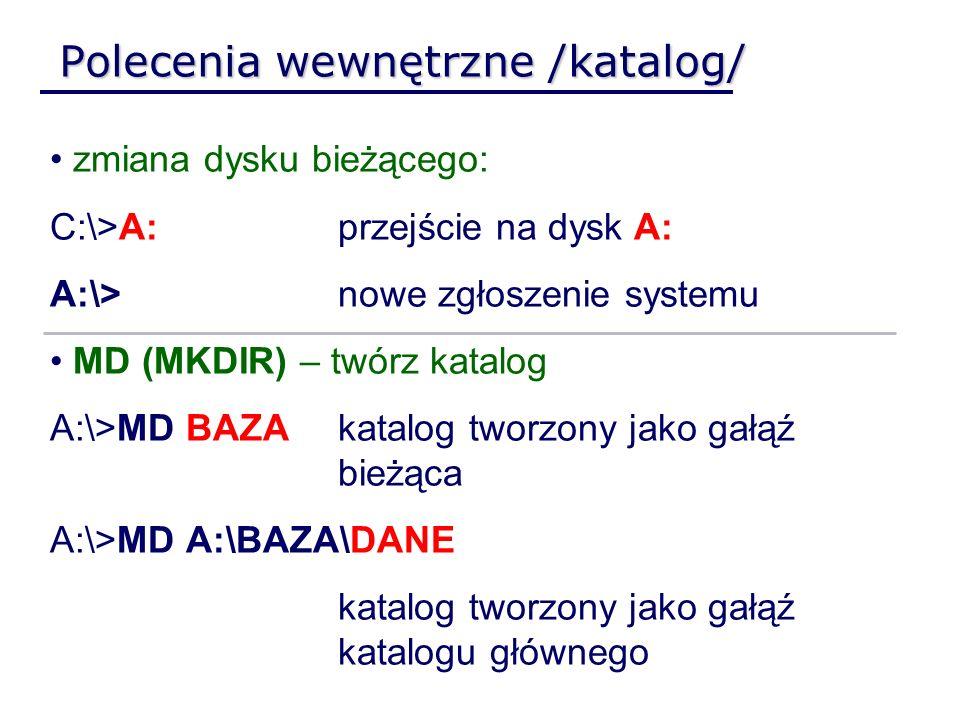 Polecenia wewnętrzne /katalog/
