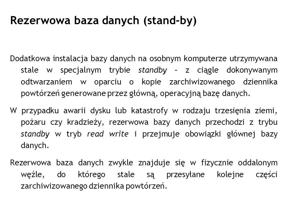 Rezerwowa baza danych (stand-by)