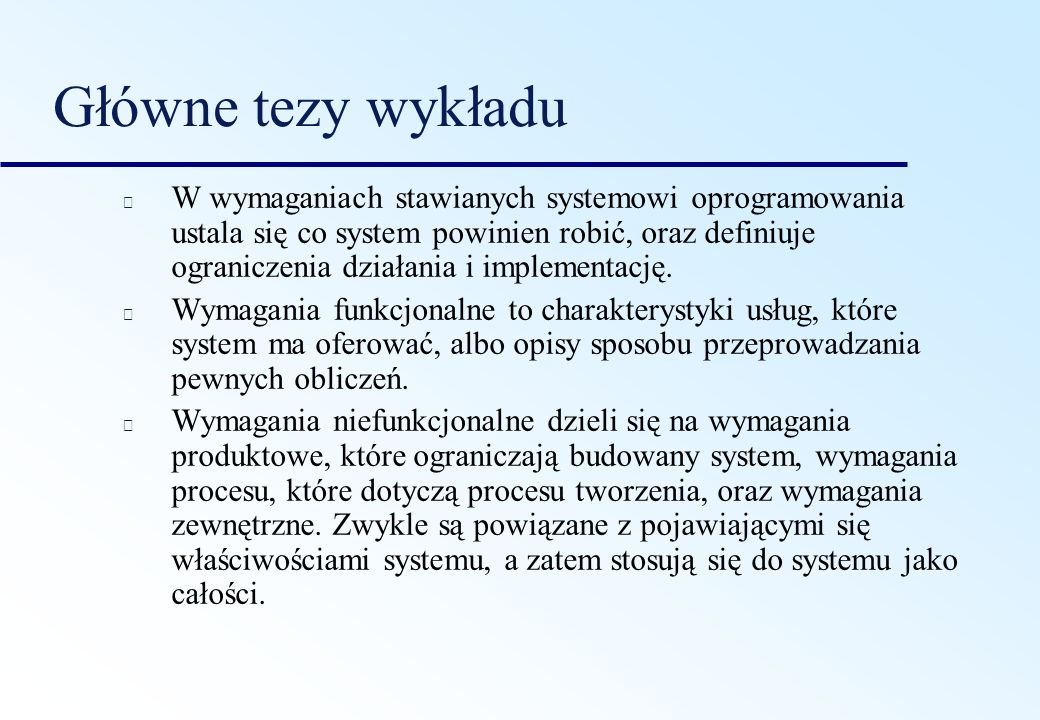Główne tezy wykładu
