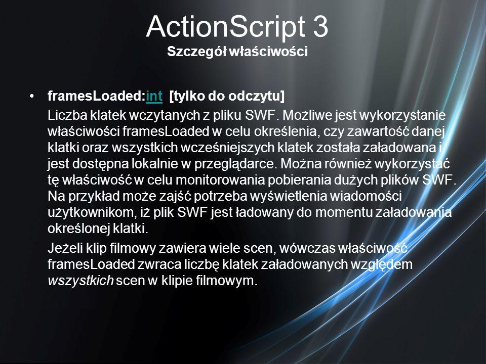 ActionScript 3 Szczegół właściwości