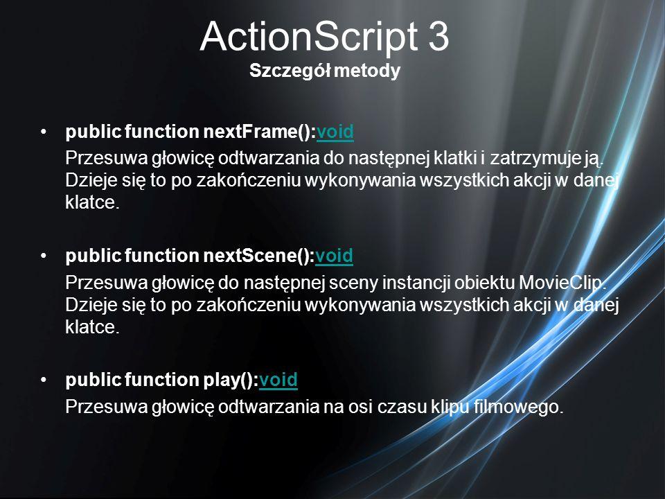 ActionScript 3 Szczegół metody