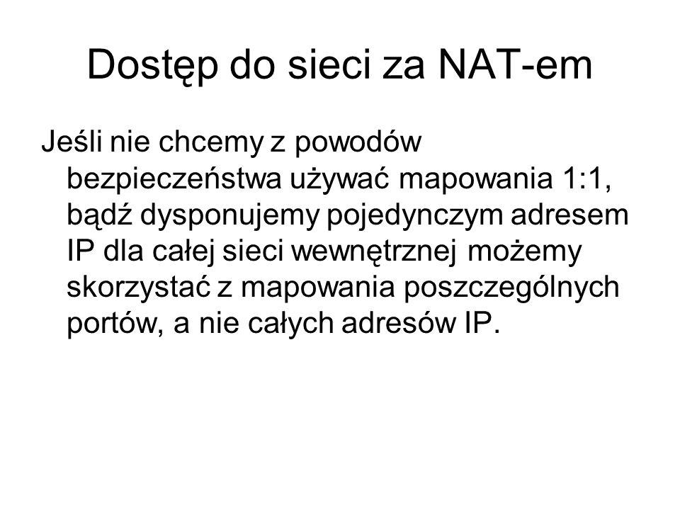 Dostęp do sieci za NAT-em