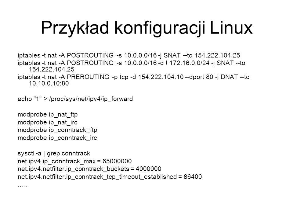 Przykład konfiguracji Linux