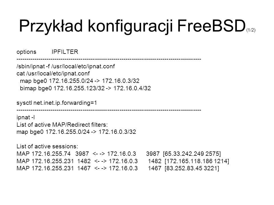 Przykład konfiguracji FreeBSD(1/2)