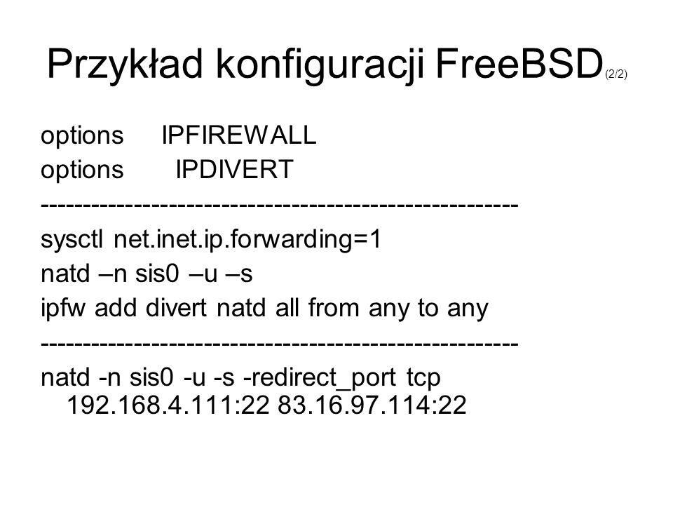Przykład konfiguracji FreeBSD(2/2)