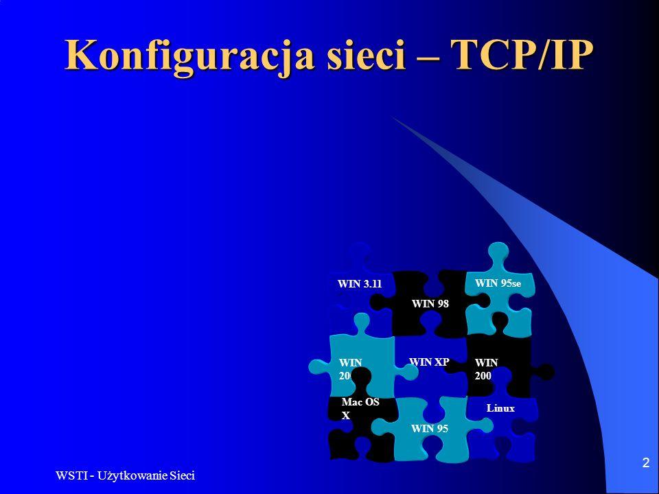 Konfiguracja sieci – TCP/IP