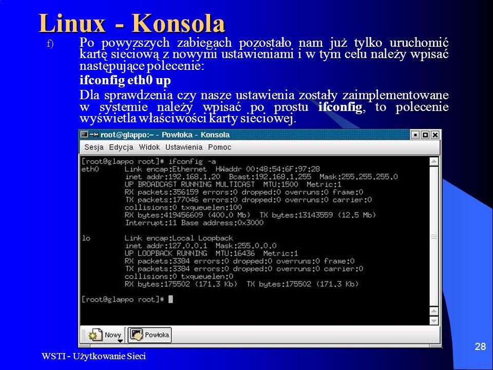 Linux - Konsola