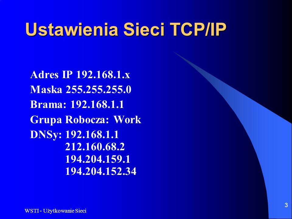 Ustawienia Sieci TCP/IP