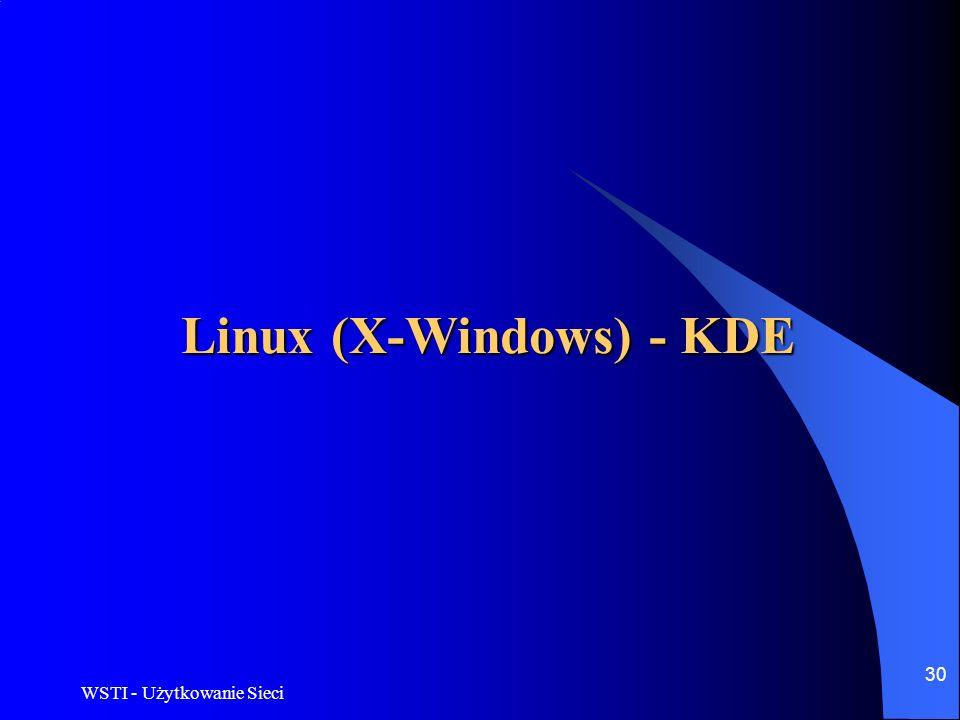 Linux (X-Windows) - KDE