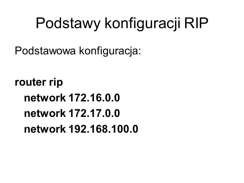Podstawy konfiguracji RIP