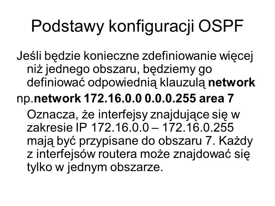 Podstawy konfiguracji OSPF