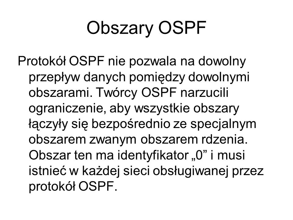 Obszary OSPF