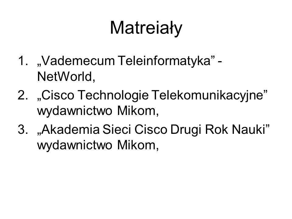 """Matreiały """"Vademecum Teleinformatyka - NetWorld,"""