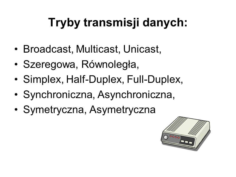 Tryby transmisji danych: