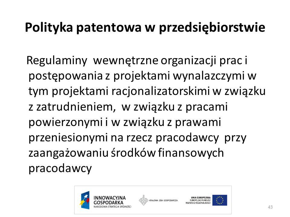 Polityka patentowa w przedsiębiorstwie