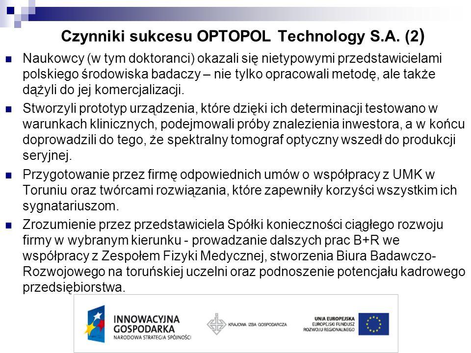 Czynniki sukcesu OPTOPOL Technology S.A. (2)