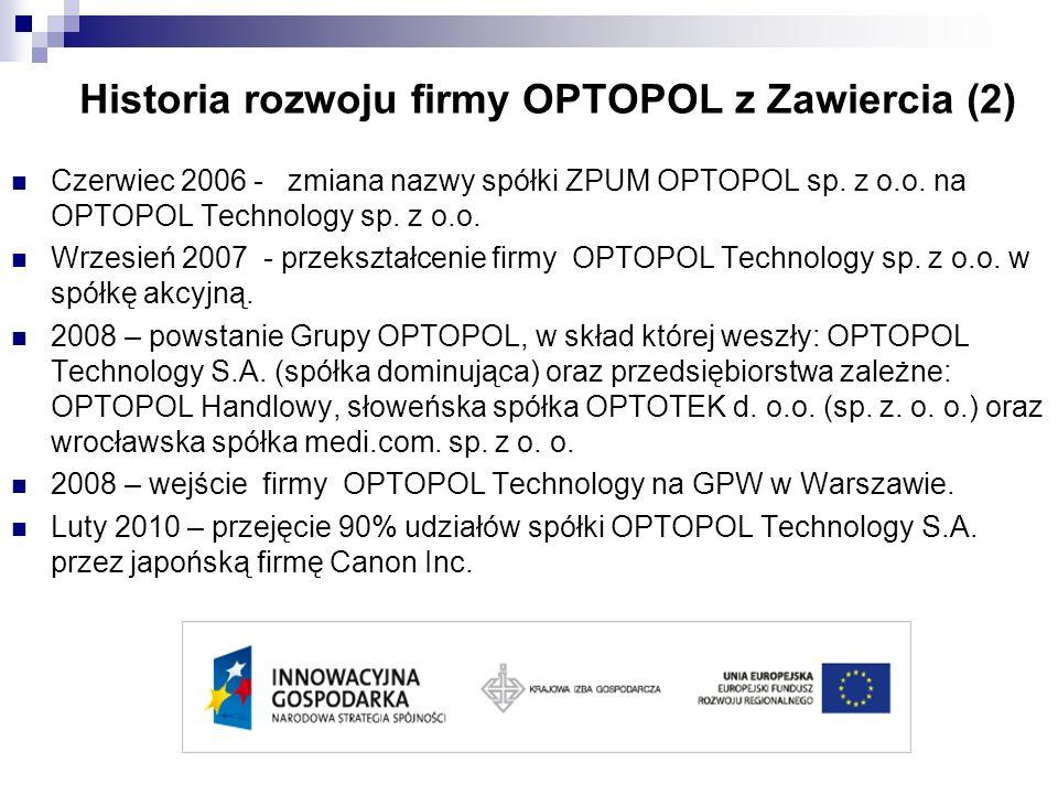Historia rozwoju firmy OPTOPOL z Zawiercia (2)