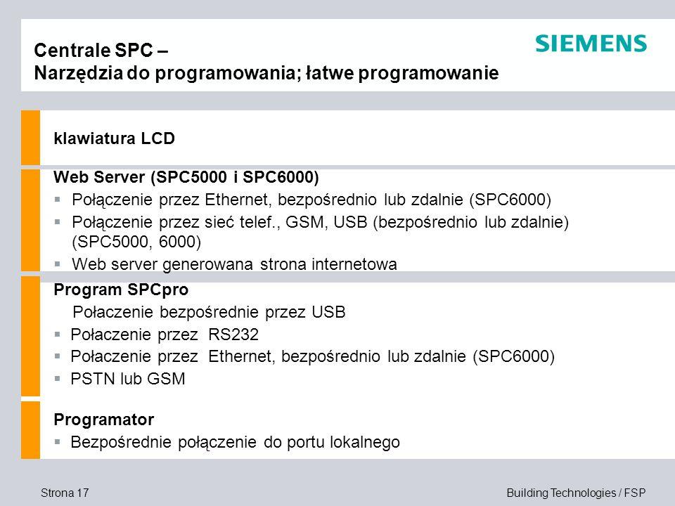 Centrale SPC – Narzędzia do programowania; łatwe programowanie