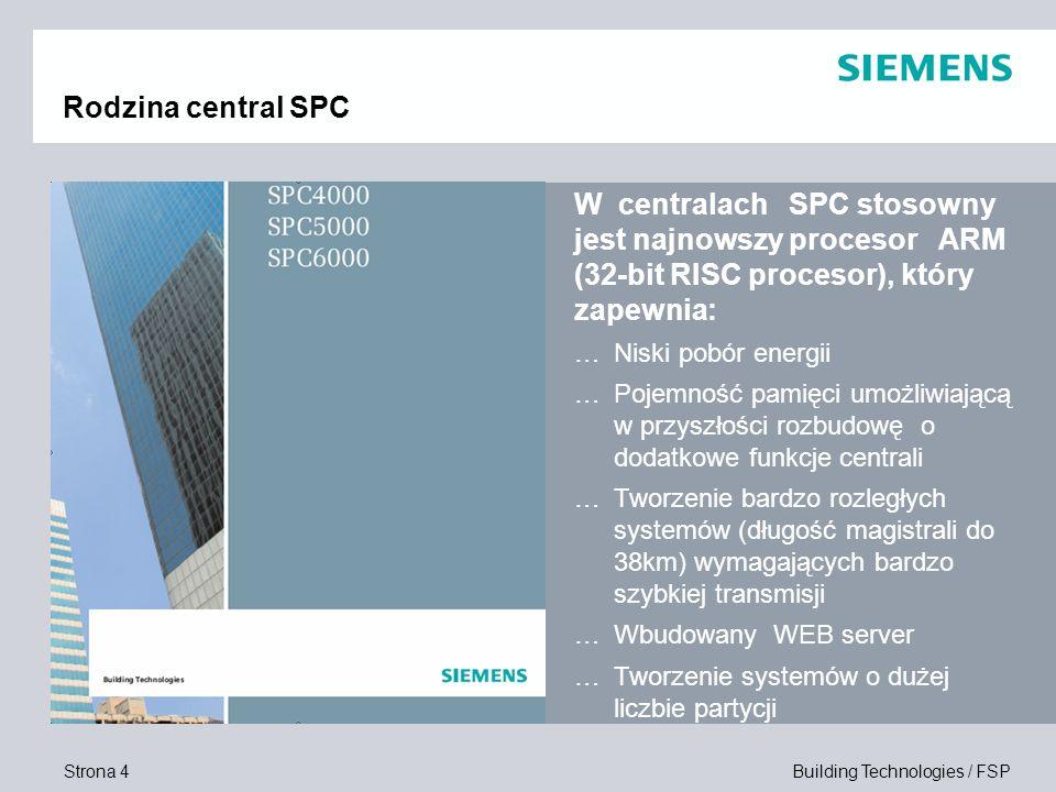 Rodzina central SPC W centralach SPC stosowny jest najnowszy procesor ARM (32-bit RISC procesor), który zapewnia:
