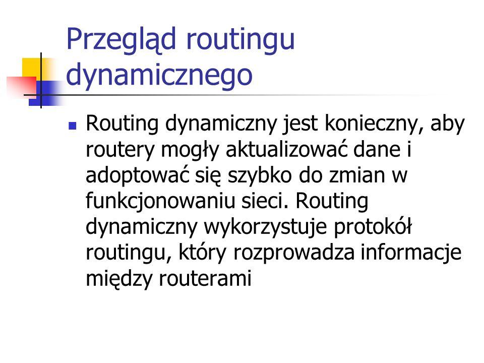 Przegląd routingu dynamicznego