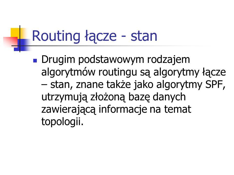 Routing łącze - stan