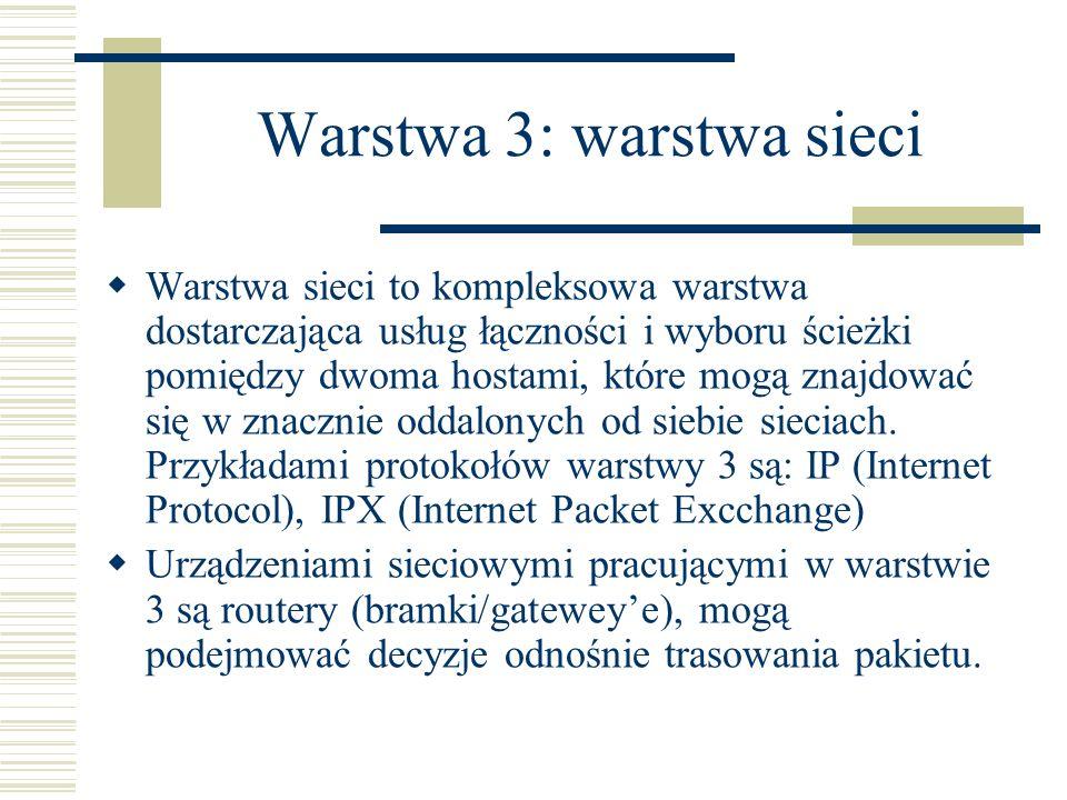 Warstwa 3: warstwa sieci