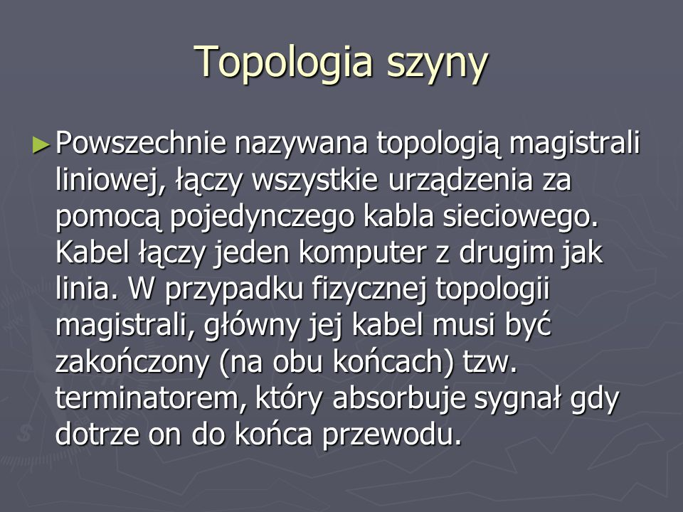 Topologia szyny