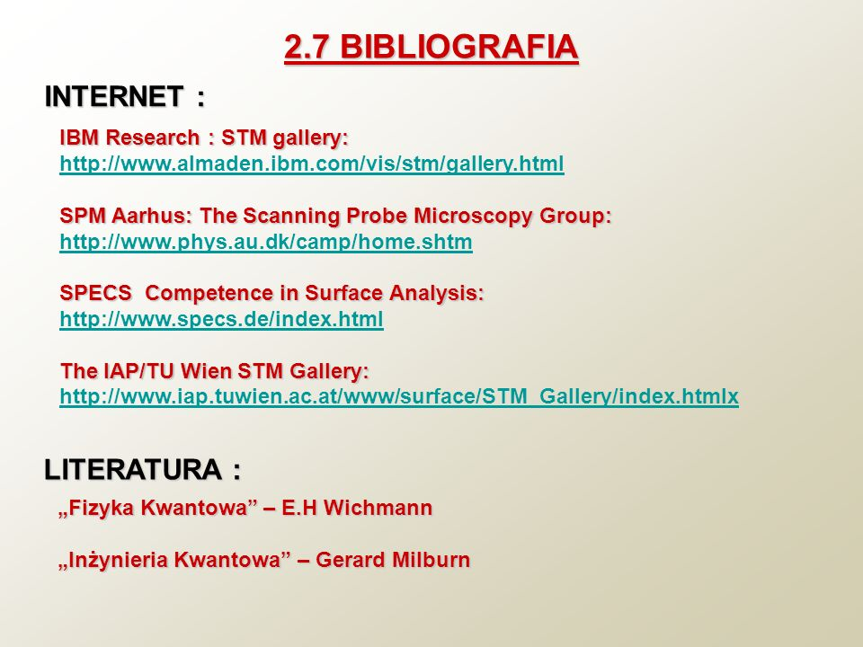 2.7 BIBLIOGRAFIA INTERNET : LITERATURA : IBM Research : STM gallery: