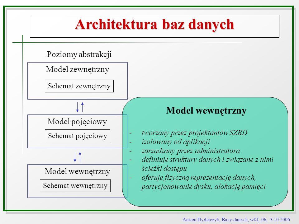 Architektura baz danych
