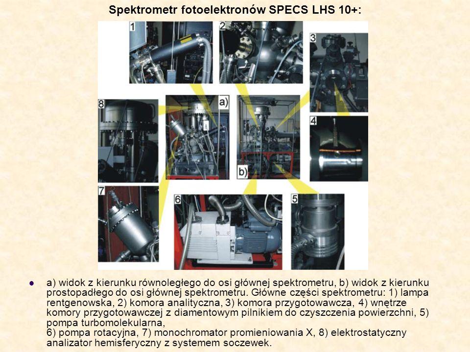 Spektrometr fotoelektronów SPECS LHS 10+: