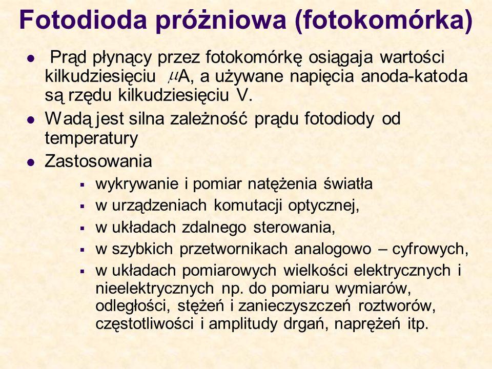 Fotodioda próżniowa (fotokomórka)