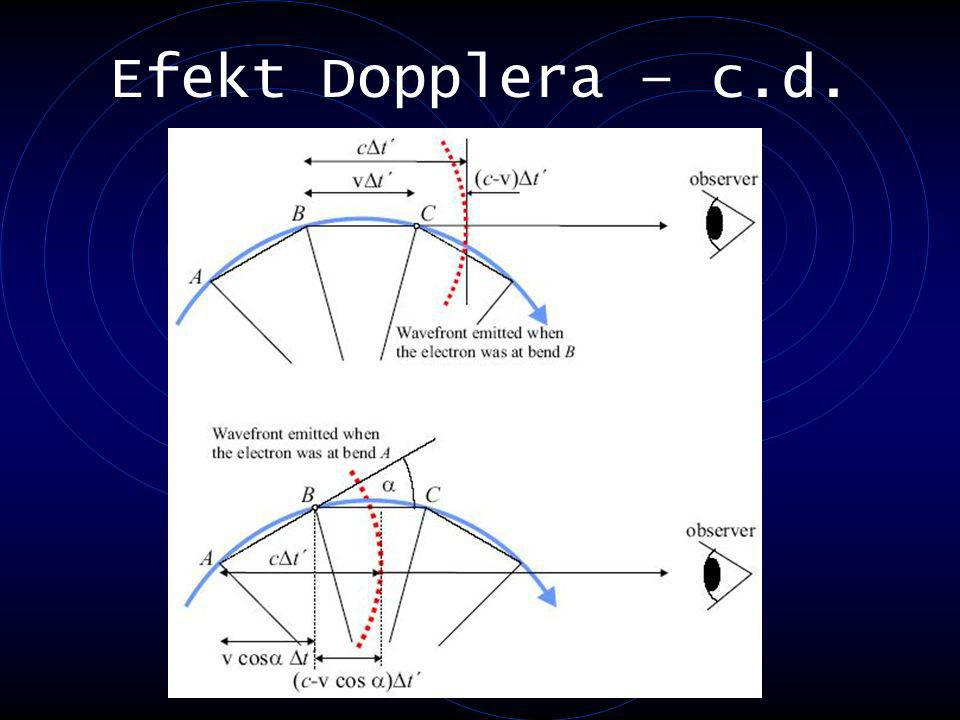 Efekt Dopplera – c.d.
