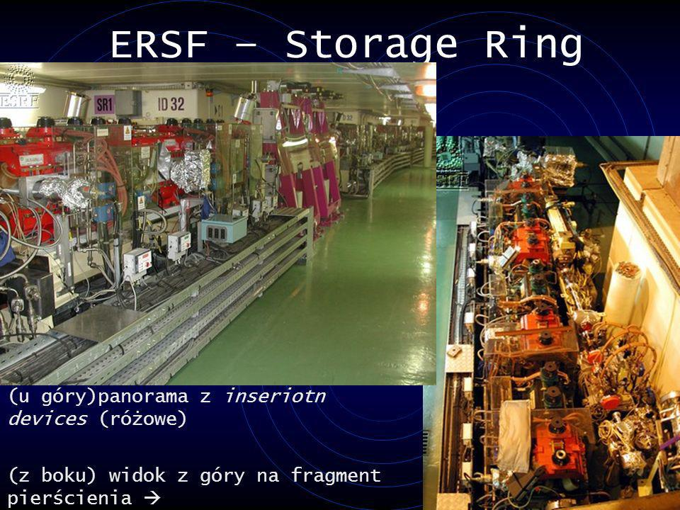 ERSF – Storage Ring (u góry)panorama z inseriotn devices (różowe)