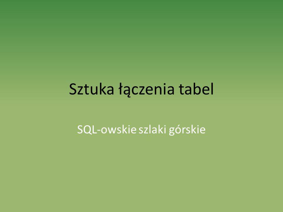 SQL-owskie szlaki górskie